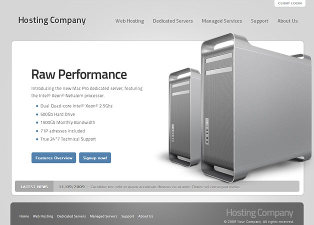 Hosting Company Template