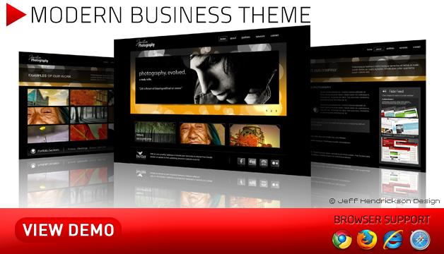 Modern Business Photography Theme